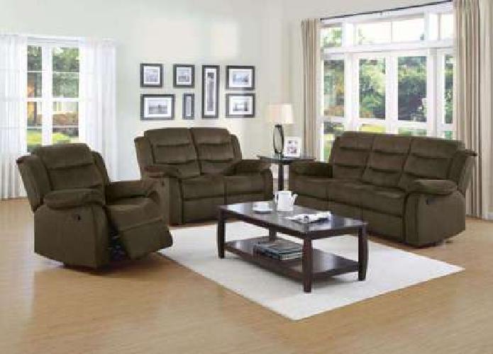 2 PC Reclining Sofa Set Sofa & Loveseat