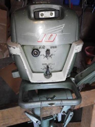 300 1957 johnson 10 hp outboard motor and tank for sale for Outboard motors for sale in michigan