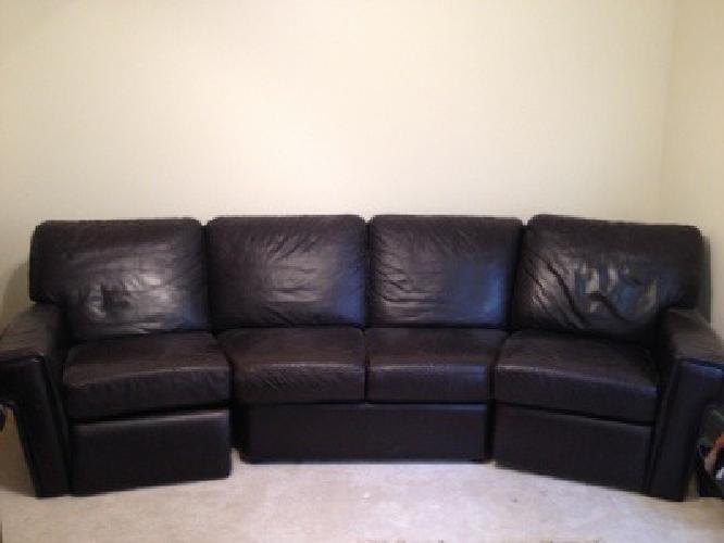 300 Curved Brown Leather Couch For Sale In Baton Rouge Louisiana Classified