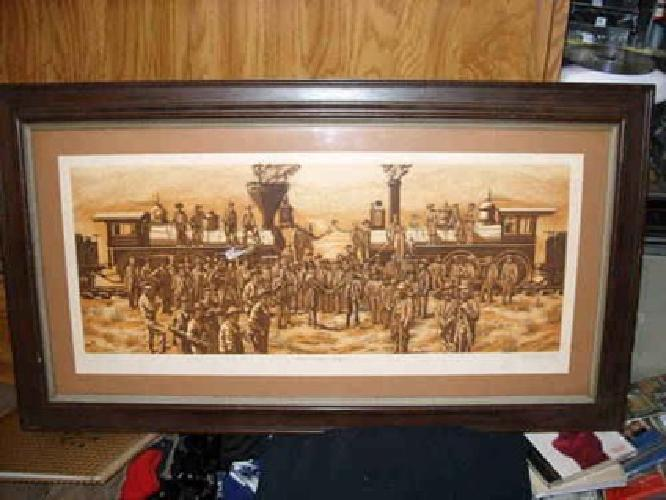 300 Kathleen Cantin East Meet West Etching Signed