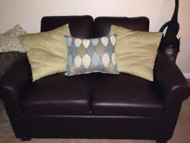 $300 Leather Pull Out Couch
