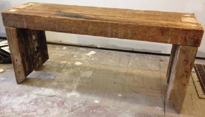 300 Obo Wood Bench Seats Rough Cut Lumber Industrial