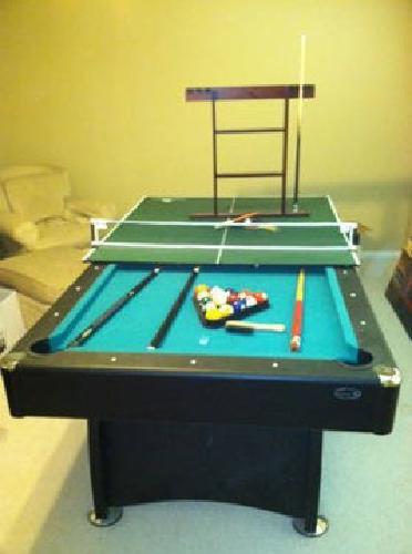 Sportcraft Ft Auburn Billiard Table With Bonus Table Tennis - Sportcraft pool ping pong table combo