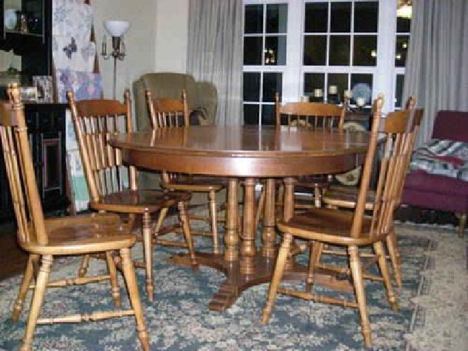 Elegant $300 Tell City Maple Dining Table And 6 Chairs Part 17