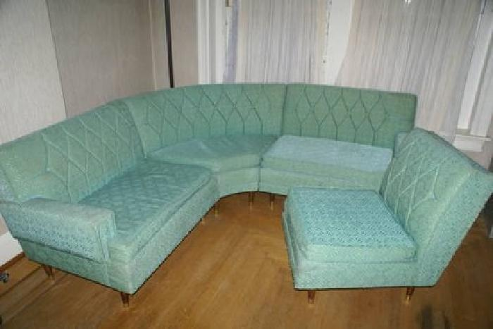 300 vintage four piece sectional 50 39 60 39 s sofa baby blue teal good for sale in allentown. Black Bedroom Furniture Sets. Home Design Ideas