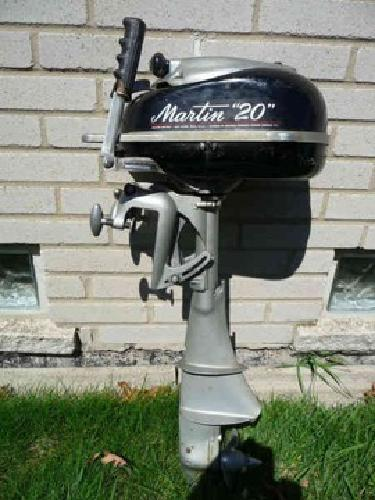 300 vintage rare martin 20 outboard motor royal oak for Outboard motors for sale in michigan