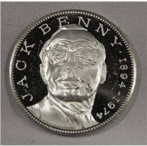 $30 1894-1974 Jack Benny 1 Troy Ounce .925 Silver Commemorative
