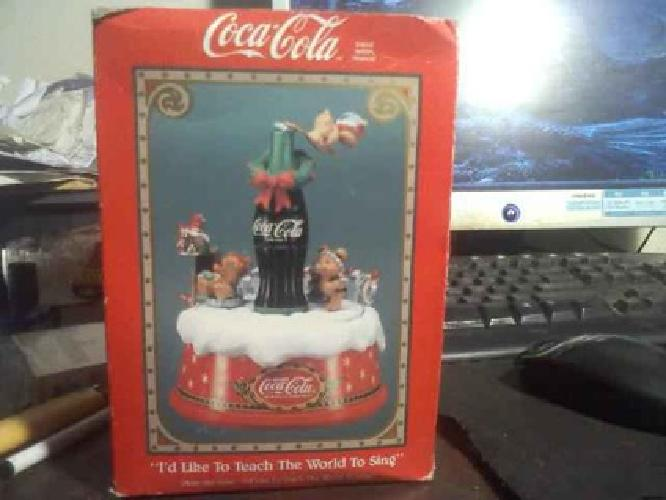 $30 1991 COCA COLA ANIMATED MUSIC BOX Made By Coca Cola Co, Distributed By Enesco