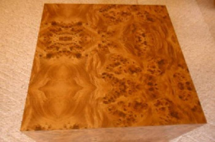 30 24 X 24 Inch 21 Inch High Burl Laminate Coffee End