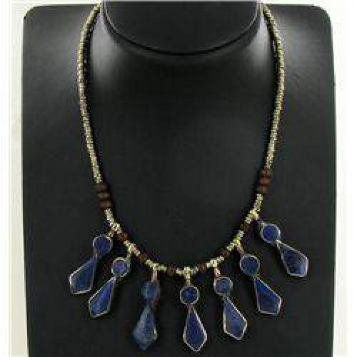 $30 250ct Handcrafted Lapis Nickel Necklace (JEW-004373)