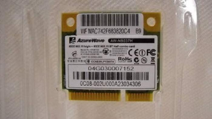 $30 AzureWave Micro PCIE wireless card