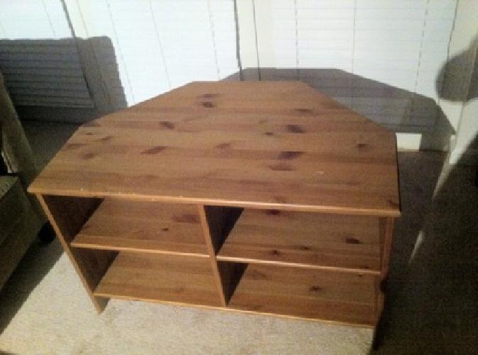 30 obo ikea pine finished corner tv stand for sale in rockville maryland classified. Black Bedroom Furniture Sets. Home Design Ideas