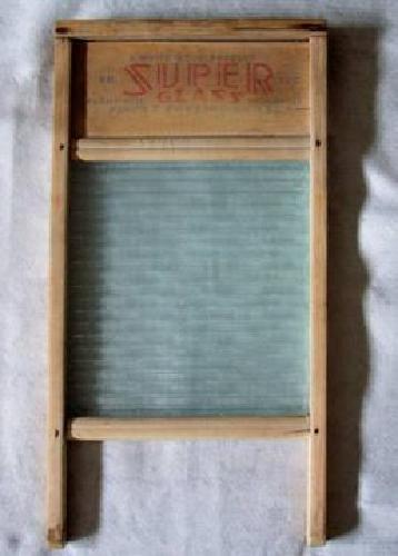 $30 Vintage National Super Glass No. 13-D Washboard