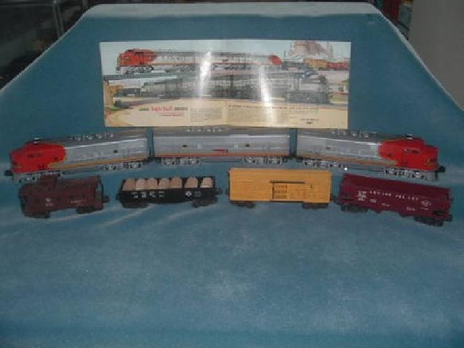 325 1953 LIONEL SANTA FE 2191w TRAIN SET