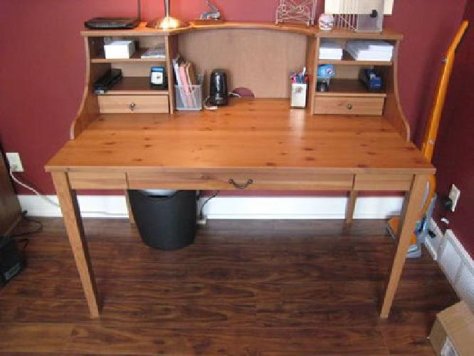 325 ikea desk bookcase solid pine for sale in east for Pine desk ikea
