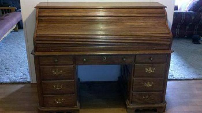 349 Oak Roll Top Desk By Pennsylvania House Vintage For