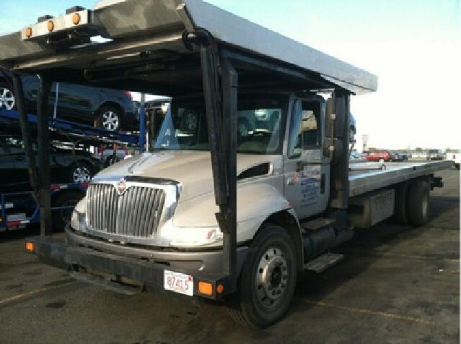 34 999 Obo 2002 International 4400 Rollback Tow Truck 4 Car Carrier