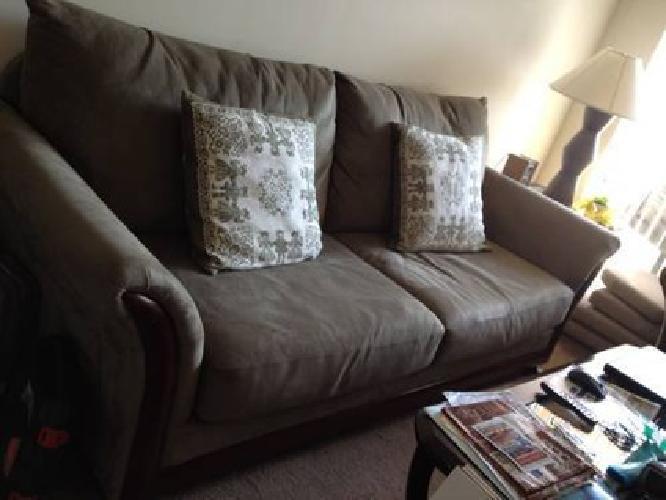 $350 Darkwook Microfiber living room set