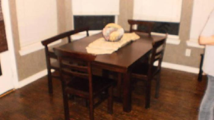 350 Dining Table 4 Chairs And Bench Solid Wood 350 Highland Village Must Sell For Sale In