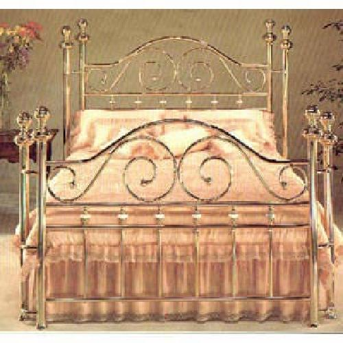 350 King Size Swan Solid Brass Bed For Sale In Santa