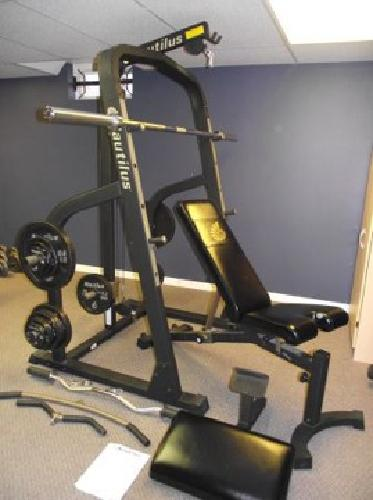 350 Nautilus Home Gym Nt907 Bench And Weights For Sale