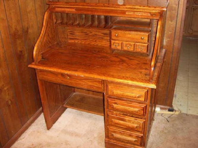 350 Oak Creek By Riverside Solid Roll Top Rolltop Desk With Keys
