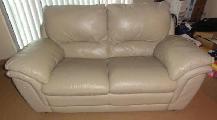 350 Obo Decoro Leather Couch 2 Seater For Sale In Union
