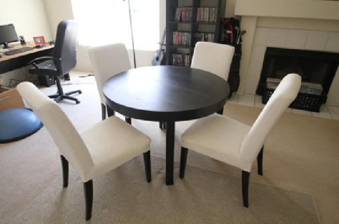 350 Obo Ikea Bjursta Dining Table With Four White Chairs For Sale In Phoenix Arizona