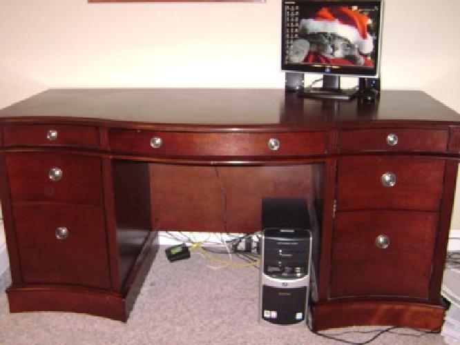 $350 OBO Mahogany Serpetine front office desk