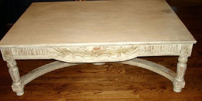 $350 OBO Shabby Shiek coffee table 38in x54in x19in