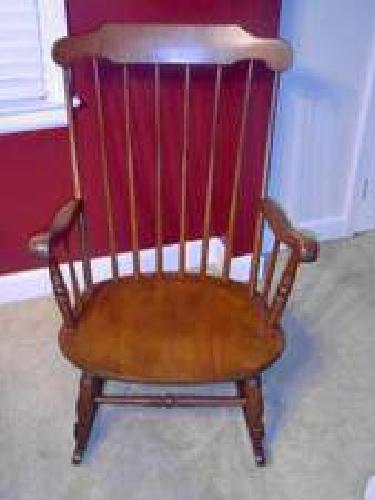 Charmant $350 ROCKING CHAIR Antique S, Bent Brothers Furniture Inc, Maple Rocking  Chair   .