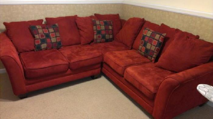 350 sectional sofa brick red in color for sale in for Brick red sectional sofa