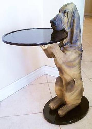 350 Sir Hawthorne Basset Hound Dog Table From The Bombay