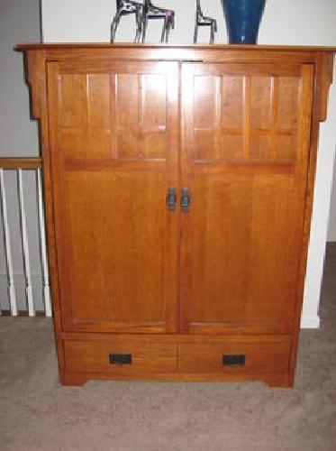 350 Tv Armoire Media Center Craftsman Mission Style