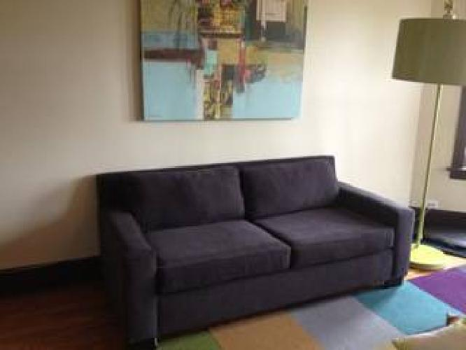 350 west elm goodwin sleeper sofa gray for sale in forest park illinois classified. Black Bedroom Furniture Sets. Home Design Ideas