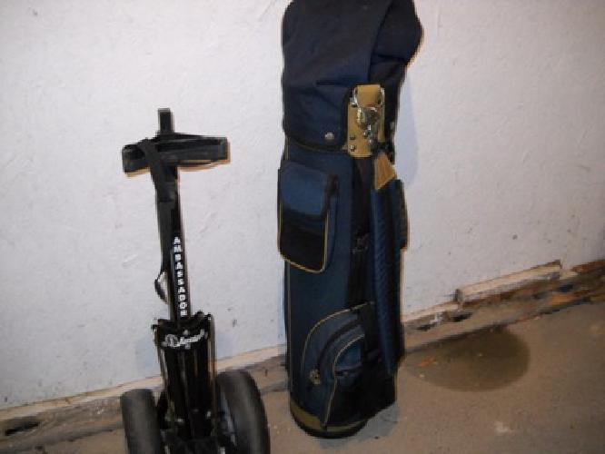 $35 golf bag and pull cart