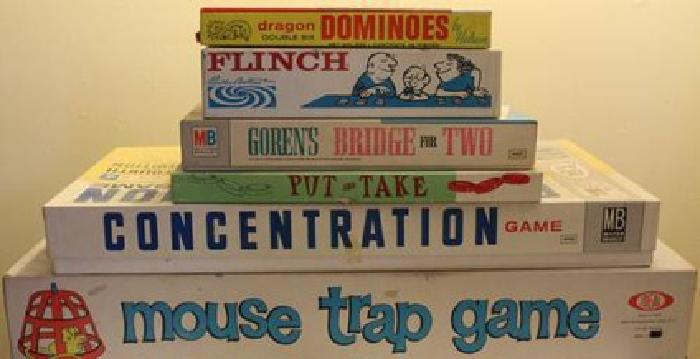 $35 Lot of 6 Vintage Games, Finch, Mouse Trap, Concentration, Pick & Tell,