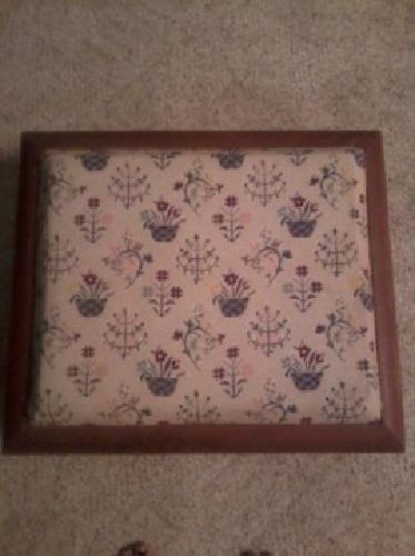 $35 OBO Hand-embroidered Foot Stool