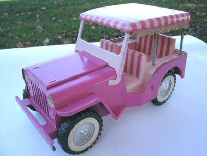 35 pink vintage tonka jeep w the surrey top in nice condition for sale in bemidji minnesota. Black Bedroom Furniture Sets. Home Design Ideas