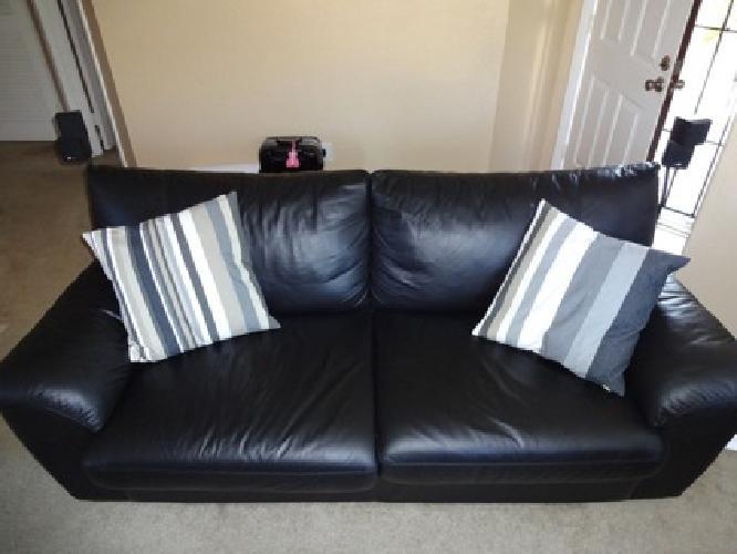 Ikea black leather sofa bed home furnishings kitchens appliances sofas beds mattresses ikea - Leather futon ikea ...