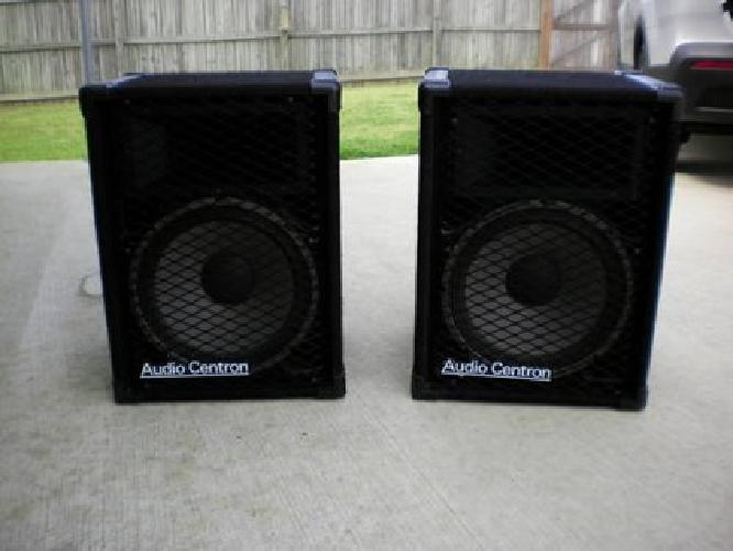 $375 Audio Centron PA Speakers 15'' (Made in USA)( Made in St.Louis)