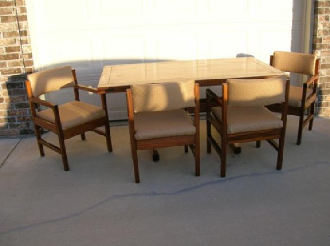 $375 Cargo All Wood Breakfast Table & 4 Chairs