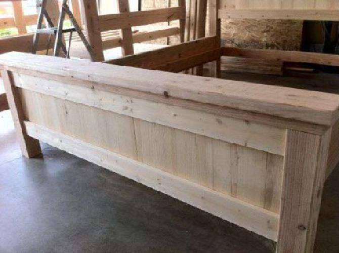 375 Double Full Size Bed Custom Made Solid Wood