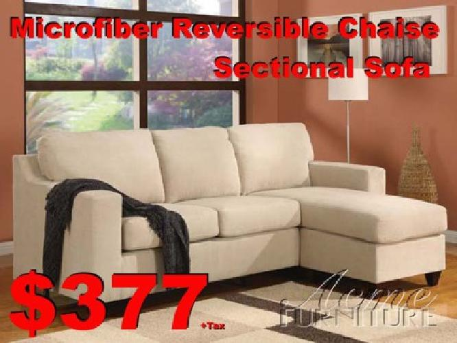 $377 ??? ((( MicroFiber Reversible Chaise Sectional sofa ))) ???