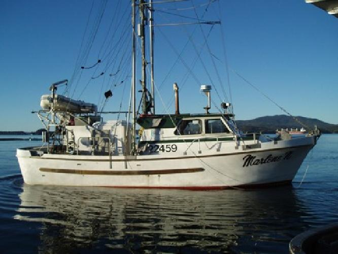 37 39 commercial fishing freezer troller for sale in for Alaska fishing boats for sale