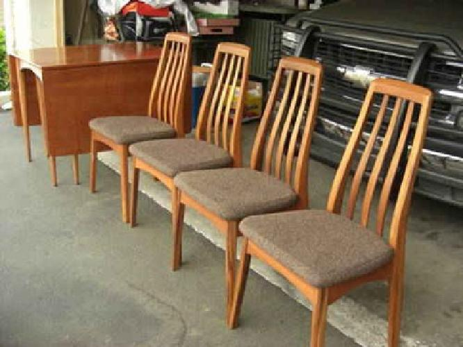 390 danish modern teak dining chairs benny linden design for sale