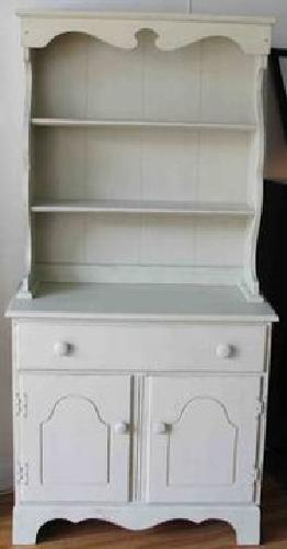 $395 Vintage Hutch Painted in our Taupe