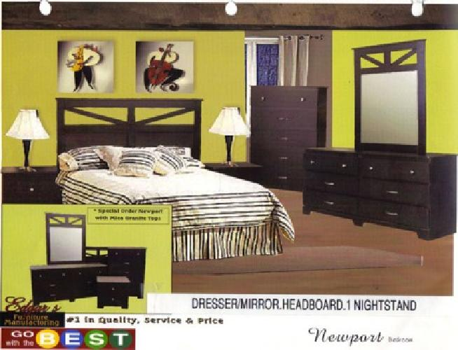 $399 Brand New Bedroom Set includes Dresser Mirror ...