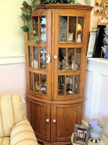 $399 Quarter round, corner curio cabinet for sale in Lake ...