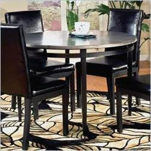 399 retro silver black dining room set for sale in